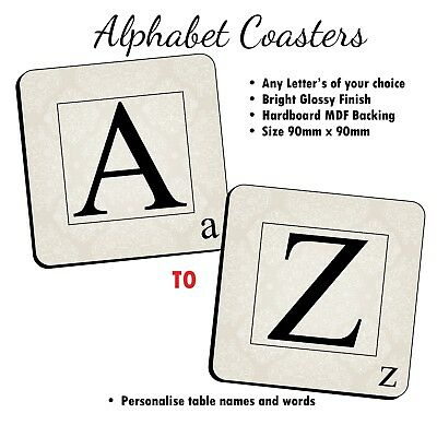 Alphabet Coasters ~ Combine to personalise with family names, words N30 (Qty 1)