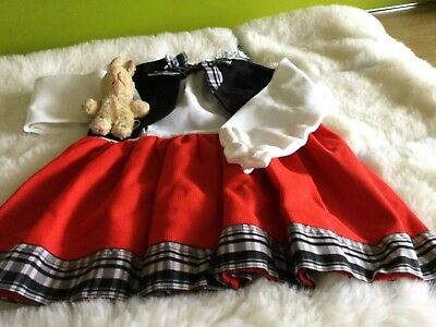 Authentic Vintage Baby infants Girls Childrens Dress unused 70s 9 months