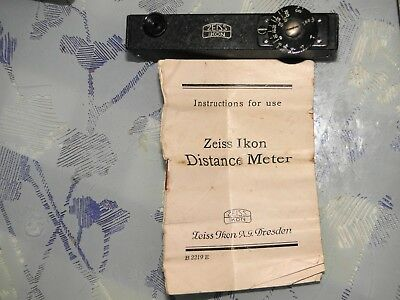 Vintage Zeiss Ikon Distance Meter in bespoke leather case with instructions.