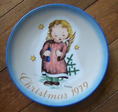 VINTAGE SCHMID BERTA  HUMMEL PLATE CHRISTMAS 1979 STARLIGHT ANGEL No Box