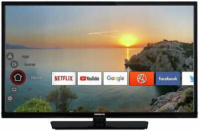 Hitachi 32 Inch HD Ready 720p Freeview Play Smart WiFi LED TV/DVD Combi - Black