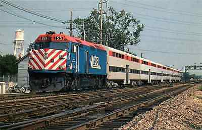 "Postcard ""City of Highland Park"" Commuter Train at Des Plaines, Illinois 1993"