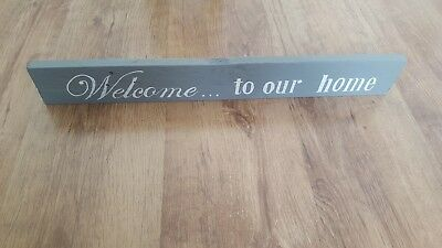 Handmade, Hand painted, Rustic, Wooden 'Welcome to our home' sign/plaque
