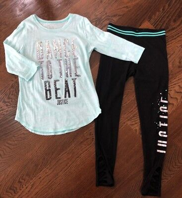Justice Dance To The Beat Top And Matching Leggings 10