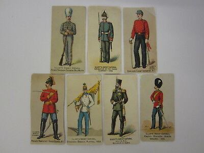 Vintage Illustrated Sweet Caporal Military Tobacco Cigarette Cards 7 pc lot