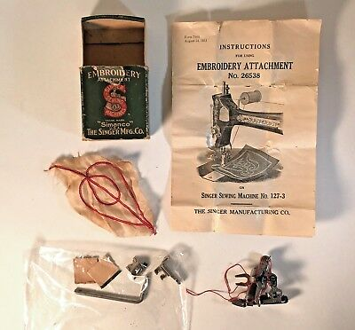 Vintage Singer Embroidery Attachment No 26538 for Singer Sewing Machine No 127-3