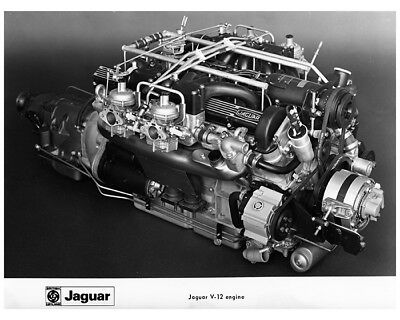 1972 Jaguar XKE V12 Engine Factory Photo cb2193