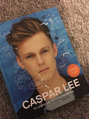 Caspar lee youtuber book signed and good as new, limited edition, cheap and fast
