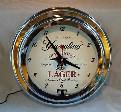 Vintage D G Yuengling & Son Brewery Advertising Beer Pottsville PA Neon Clock