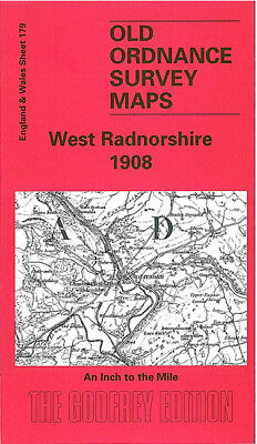 Old One Inch Map West Radnorshire Llandrindod Wells Rhayader 1908