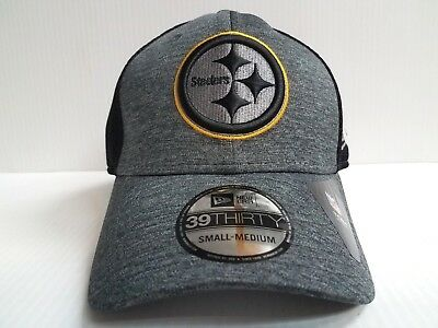 Pittsburgh Steelers Cap New Era 39Thirty Stretch Fit Mesh Shadow Front Neo  Hat a8f70b9ea