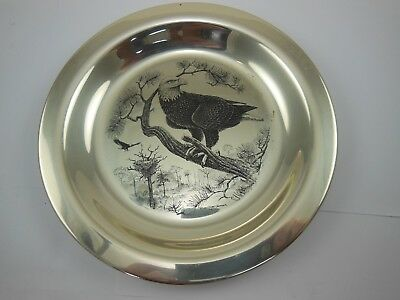 "Vintage Franklin Mint Bird Plate ""American Bald Eagle"" circa 1973 Limited Editio"