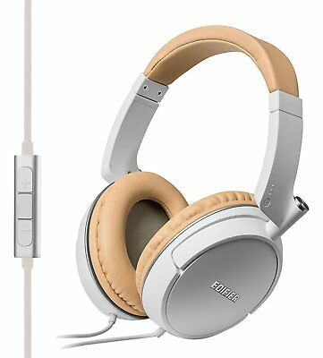 Edifier P841 Over-Ear Hi-Fi Headphones with Microphone and Controls - White