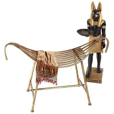 Design Toscano God of the Nile Egyptian-Style Metal Bench