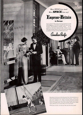 1937 Ad Empress Of Britain Canadian Pacific Tennis Courts Evening Wear