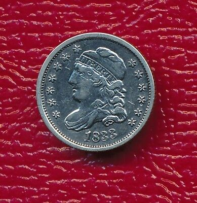 1833 Capped Bust Silver Half Dime **very Fine Coin** Free Shipping!