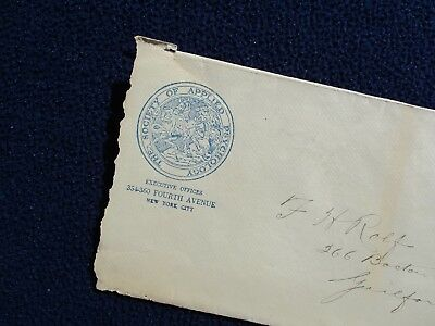 1919 N.Y. Society Of Psychology LOGO, to Guilford,Conn.,F.H.Rolf family,Cover!
