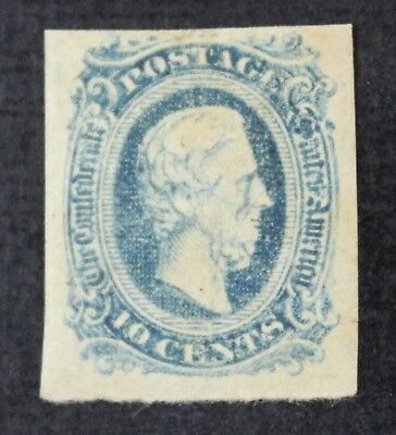 CKStamps: US Confederate States Stamps Collection Scott#11 Mint H OG Tiny Thin