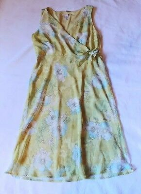 Sexy womens soft lime green/floral print w side tie. A53