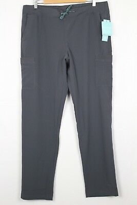 New Med Couture Air Women's Oxygen Medical Cargo Scrubs Pant Large Tall Pewter