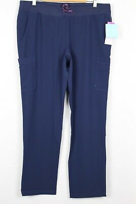 New Med Couture Air Women's Oxygen Medical Cargo Scrubs Pant Large Navy