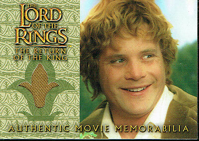 Lord Of The Rings Return Of The King Update Costume Card Sam