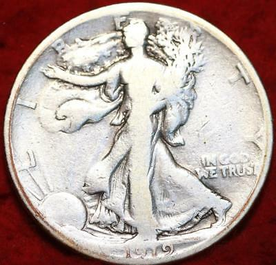 1919-S San Francisco Mint Silver Walking Liberty Half