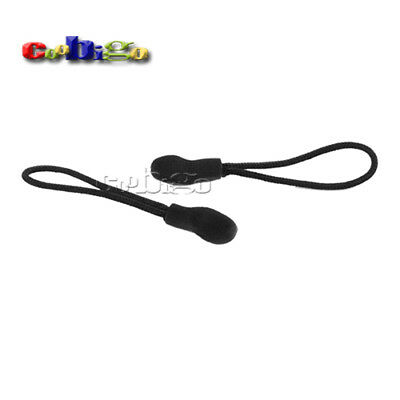 Plastic Rope Zipper Pull With Strap For Clothing Backpack Bag Parts Accessories