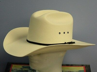 ab64a7608cdfd RESISTOL 100X ALL Around Shantung Panama Straw Cowboy Western Hat ...