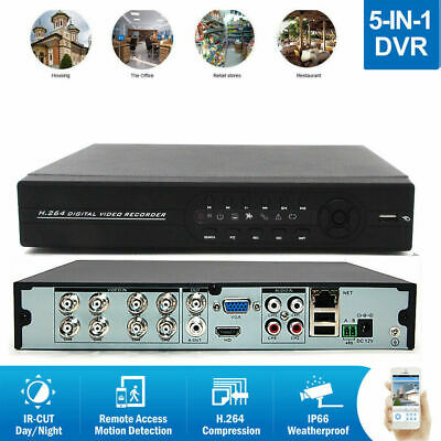 8-Channel H.264 5in1 DVR Digital Video Recorder for Home Security Camera System