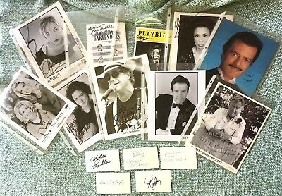 18 World of Music Autographs, < 60 cents each - Photo's, Cards - Pop, Broadway,