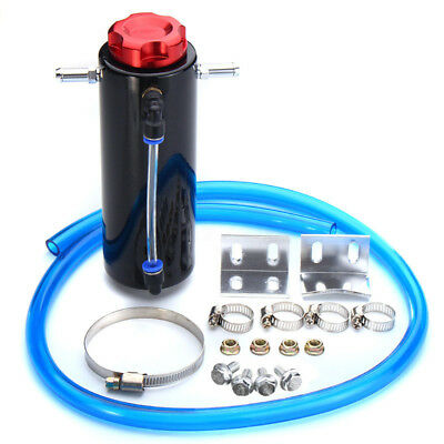 Car Aluminum Engine Oil Reservoir Catch Can Tank Kit Breather Waste  Recycling