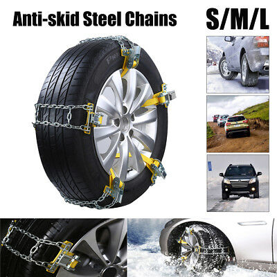 Anti-skid Car Snow Wheel Tire Tyre Chain Manganese Steel Emergency Belt SUV