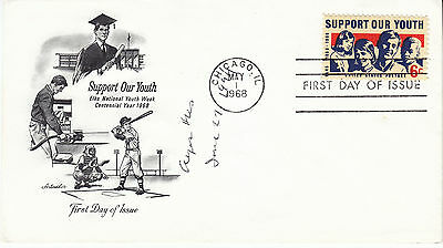 ALGER HISS (1904-1996) hand signed 1968 FDC cover autographed  Support Our Youth