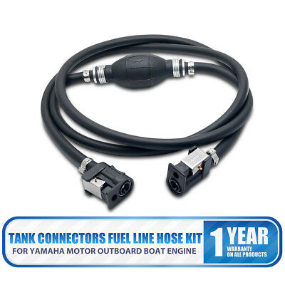 8mm Yamaha Motor Fuel Line Hose Kit For Boat Engine Outboard & Tank Connectors