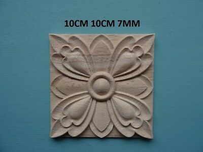 Decorative wooden appliques flower tile furniture mouldings onlay decal B07