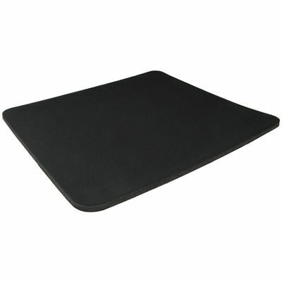 Black Fabric Mouse Mat Pad High Quality 4mm Thick Non Slip Foam 25cm x 21cm