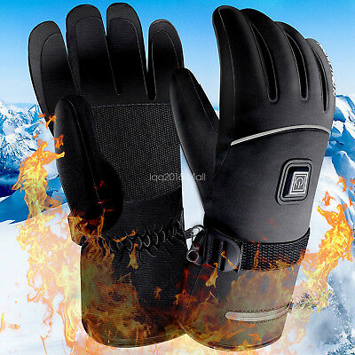 3 Control Level Electric Heated Gloves Waterproof Thermal Motorcycle Winter