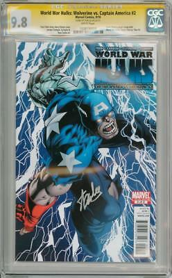 World War Hulks Wolverine Vs Capt America #2 Cgc 9.8 Signature Series Stan Lee