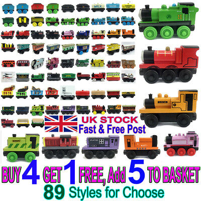 Tank Engine Take N Play Engines and Carriages Magnetic Wooden Train Kids Toy