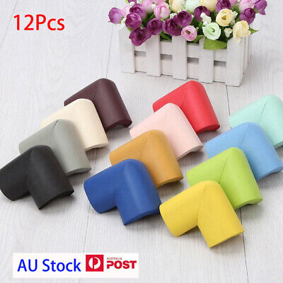 12x Set Baby Safety Edge Desk Table Rubber Foam Furniture Corner Protector Guard