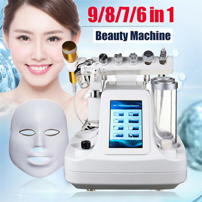 6/7/8/9 Hydra Dermabrasion Peeling RF BIO Ultrasonic Care Skin Beauty Machine