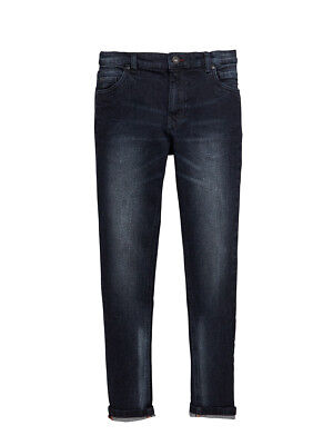 V by Very Distressed Skinny Jeans in Black Wash Size 8 Years