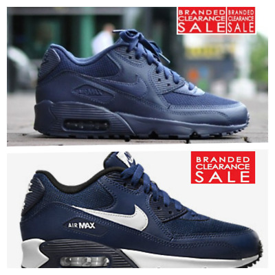 huge discount 85d37 ecf6c BNIB New Men Boys Nike Air Max 90 Mesh Trainer Navy Blue size 4 5 6uk