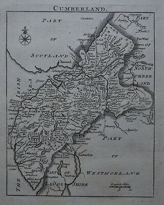 c1769, Cumberland, John Rocque, Original Antique Map