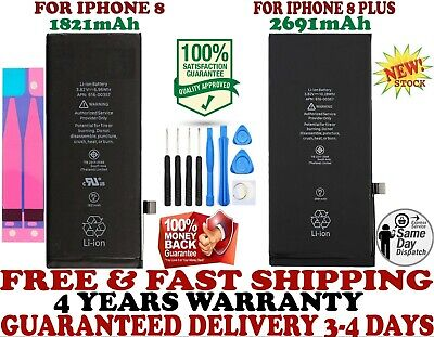 New Battery Replacement Fits For iPhone 8 and 8 Plus Brand longlife with Tools