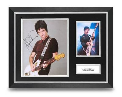 Johnny Marr Signed 16x12 Framed Photo Display The Smiths Autograph Memorabilia