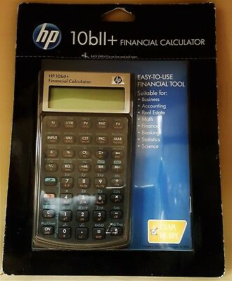 HP 10bII+ Financial Calculator (NW239AA) Business And Exam Ready Free Shipping