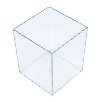 Clear Acrylic 140mm 5 Sided Cube Display Counter Retail (G91/140)