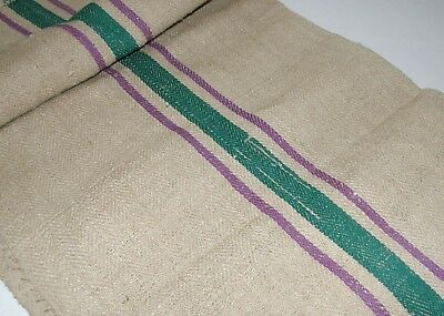 Grain sack grainsack 40 x 20 fabric Purple Green Rustic Hemp European GS01